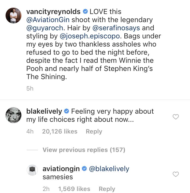 Blake Lively Flirty Comment to Ryan Reynolds