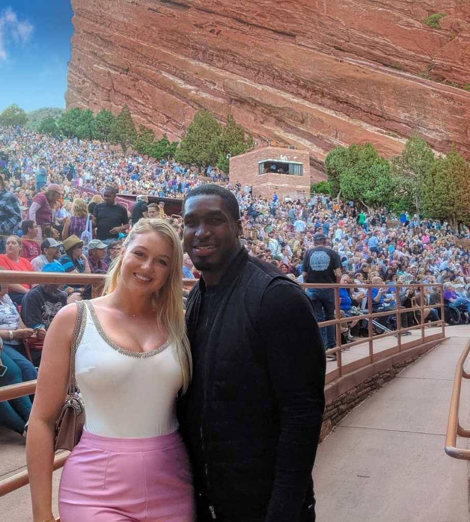 Iskra Lawrence and Philip Payne in Red Rocks Canyon