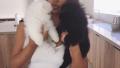 Kim Kardashian Holding Dogs
