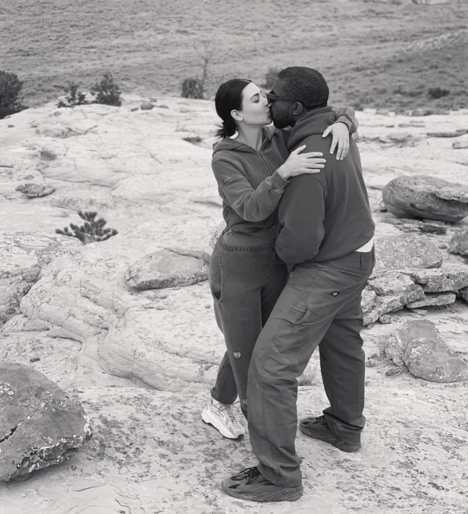Kim kardashian and Kanye West Kissing in NYC Amid Sunday Service and Jesus Is King Tour