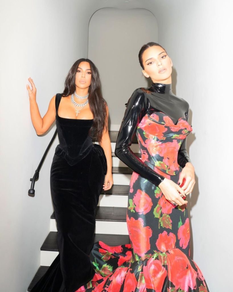 Kim Kardashian and Kendall Jenner 2019 Emmys Behind the Scenes Photos