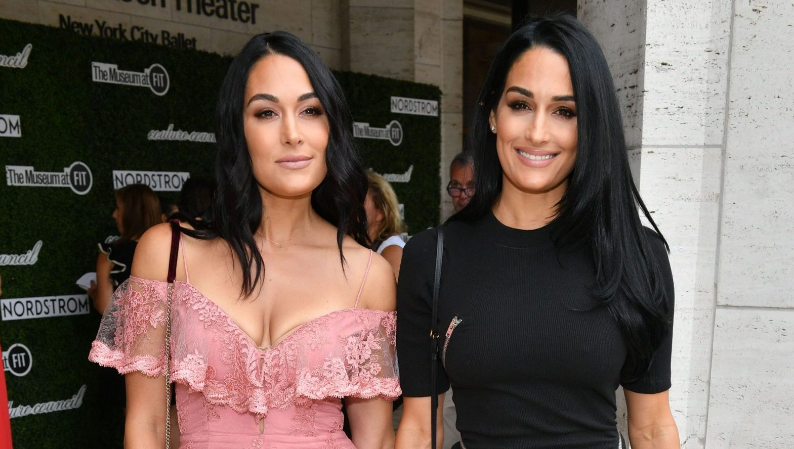 Nikki Bella and Twin Sis Brie Stun in Contrasting Outfits at Couture Council Award Luncheon