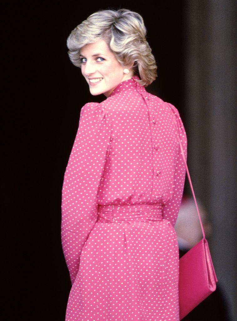 Princess Diana Looking Over Her Shoulder
