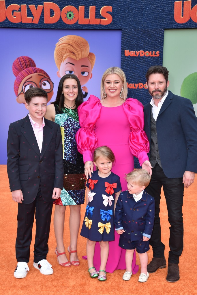 Kelly Clarkson Husband Brandon Blackstock and Kids at Ugly Dolls Premiere