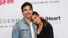 Jared Haibon and Ashley Iaconetti Wrap Their Arms Around Each Other at iheartradio event baby plans after wedding