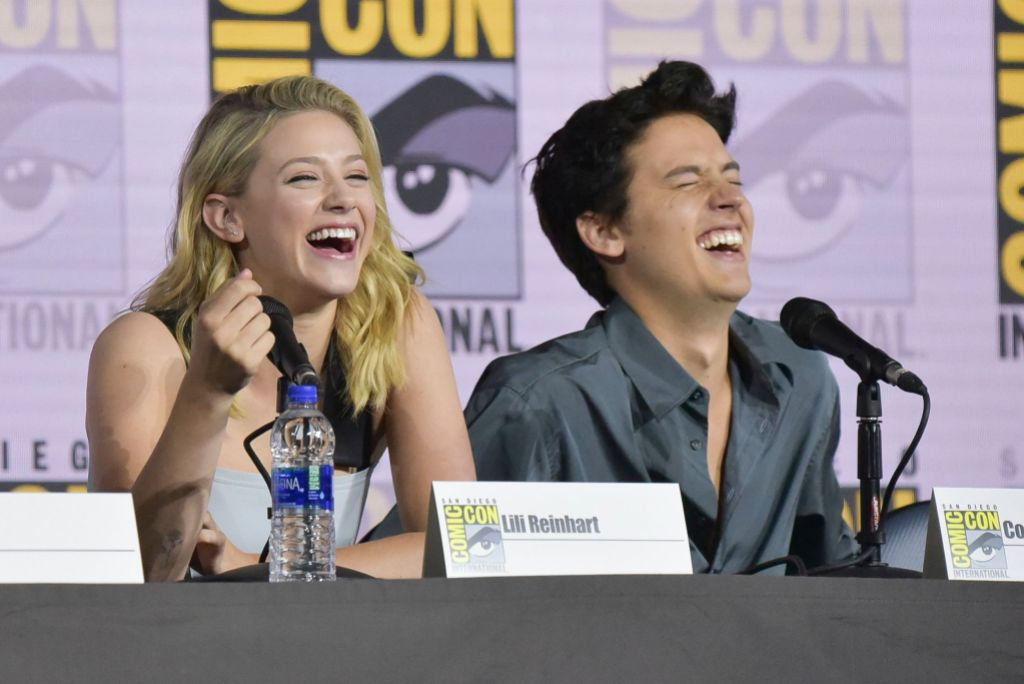 Lili Reinhart and Cole Sprouse Laughing at Comic Con