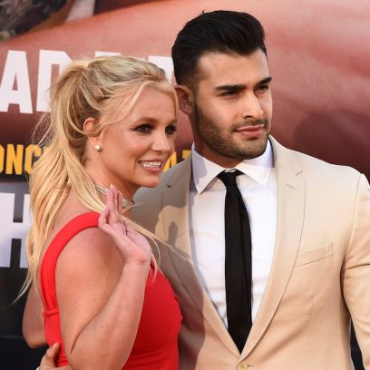 Britney Spears and Boyfriend Sam Asghari posing on red carpet are a normal couple