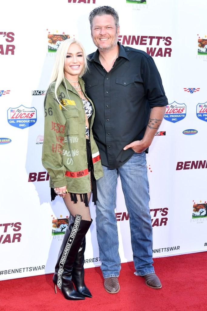 Gwen Stefani and Blake Shelton Red Carpet PDA Before Season 17 of The Voice Premiere
