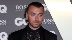 Sam Smith Black Suit With Black Lace Blouse Comes Out as Gender Non Binary