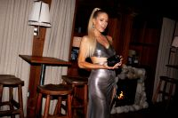 Paris Hilton Silver Dress High Ponytail KKW Beauty Event NYC