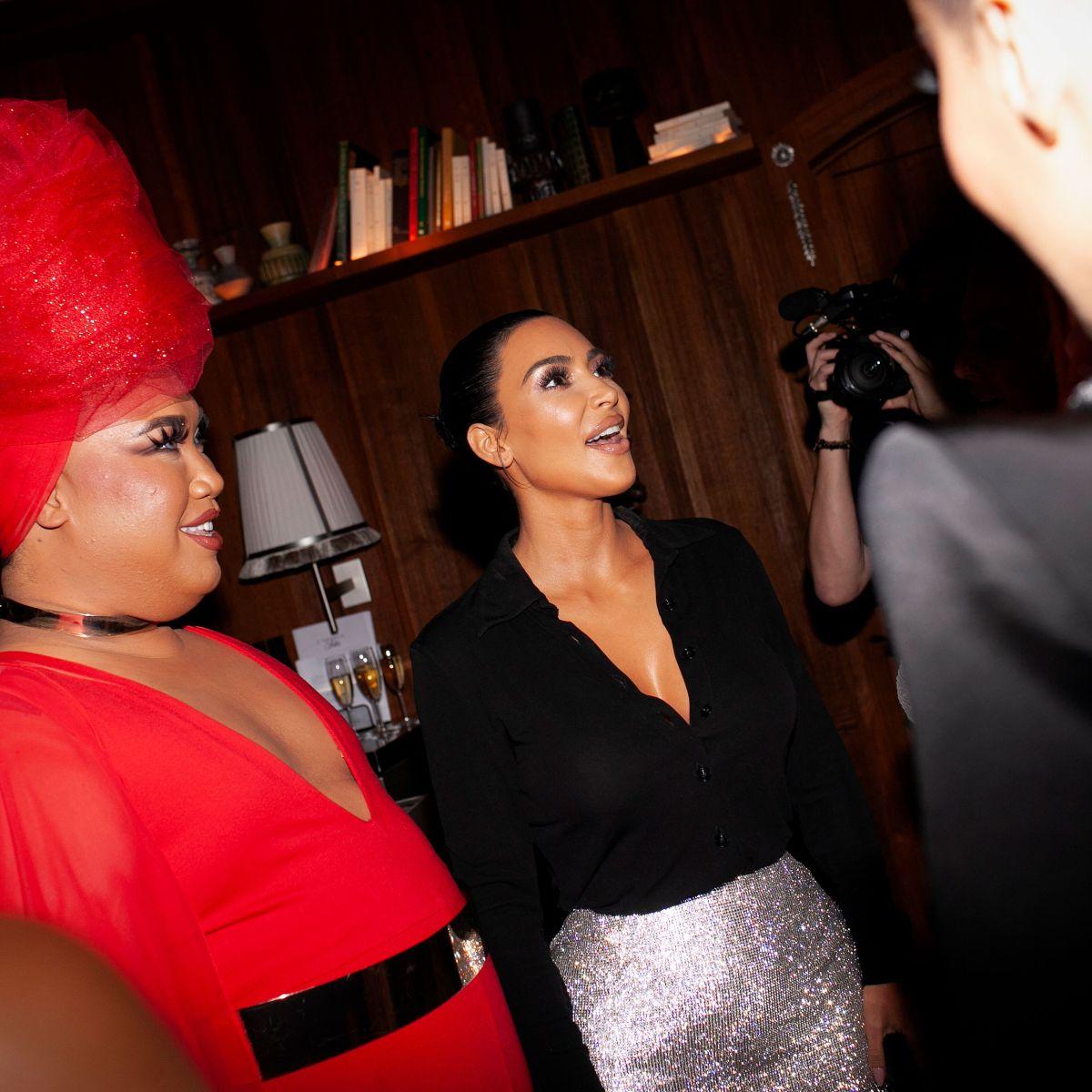 Kim Kardashian and Paris Hilton Reunite at KKW Beauty x Winnie Harlow Dinner in NYC