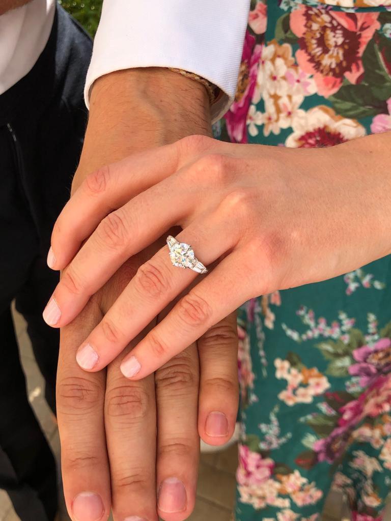 Princess Beatrice Engagement Ring Close Up Photo