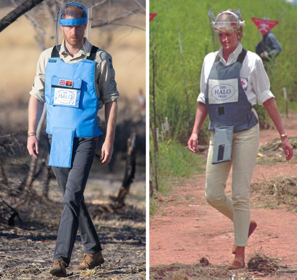 Prince Harry and Princess Diana The Halo Trust Charity Work Landmines