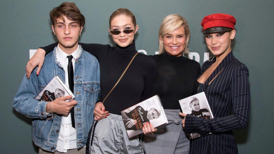 Bella Hadid, Gigi Hadid, Yolanda Hadid, Anwar Hadid