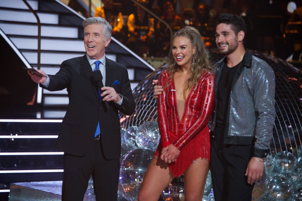 'Bachelorette' Star Hannah Brown's Costumes on 'Dancing With the Star' Just Get More Gorgeous Week 1 Red Costume With Alan Bersten Photo 2