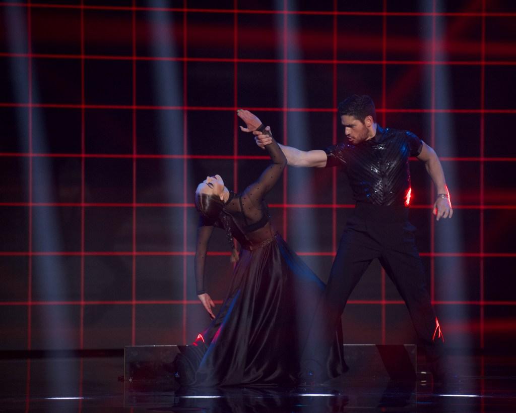 HANNAH BROWN, ALAN BERSTEN Paso Doble Dance During Week 4 DWTS