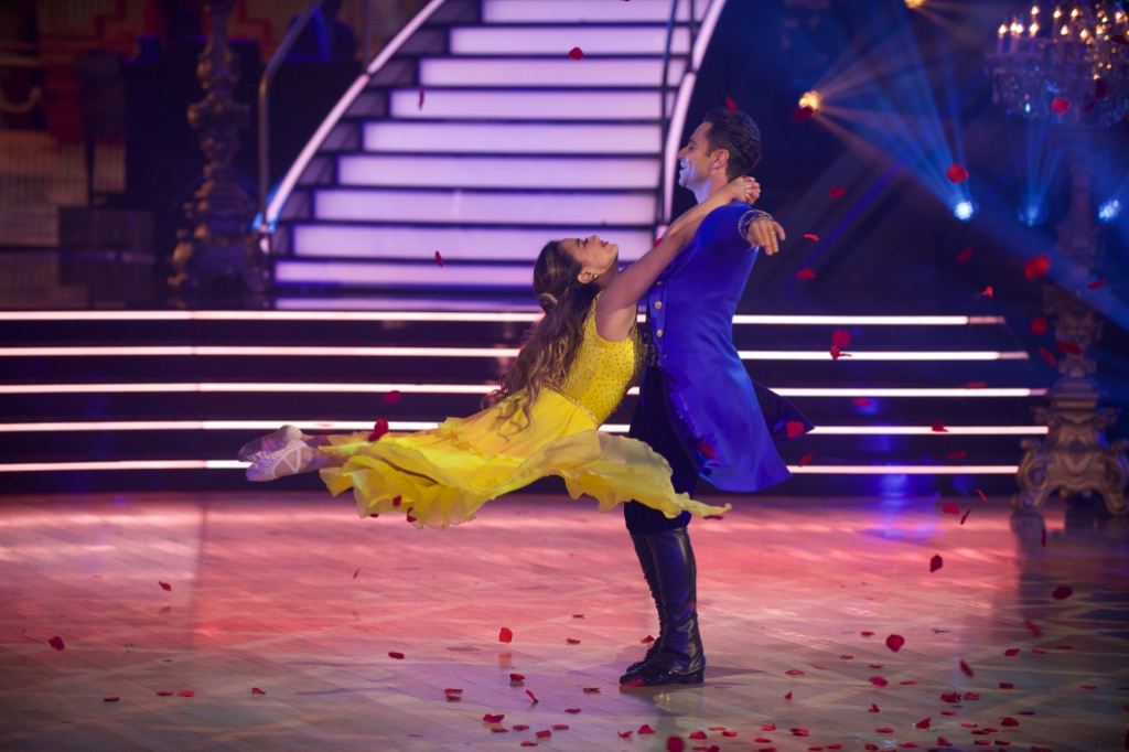 ALLY BROOKE, SASHA FARBER Beauty and the Beast Dance Disney Night Dancing With the Stars