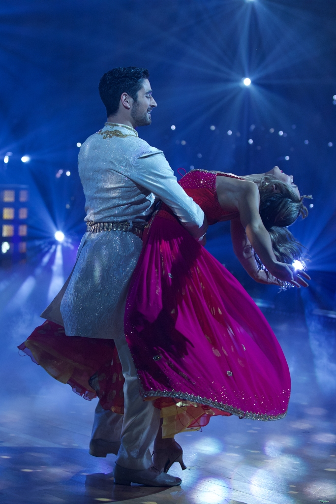 'Bachelorette' Star Hannah Brown's Costumes on 'Dancing With the Star' Just Get More Gorgeous Week 5 Aladdin Dance Red Dress With Alan Bersten A Whole New World Dance