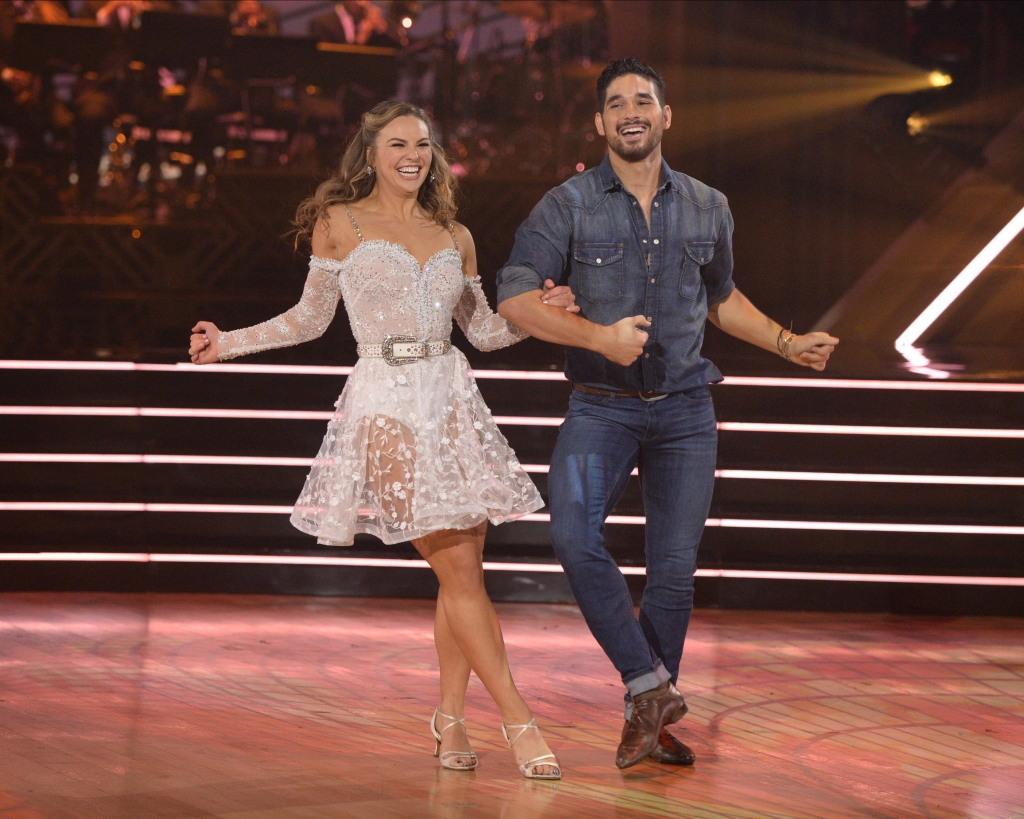 Hannah Brown and Alan Bersten Southern Dance Costume Samba to Southbound by Carrie Underwood