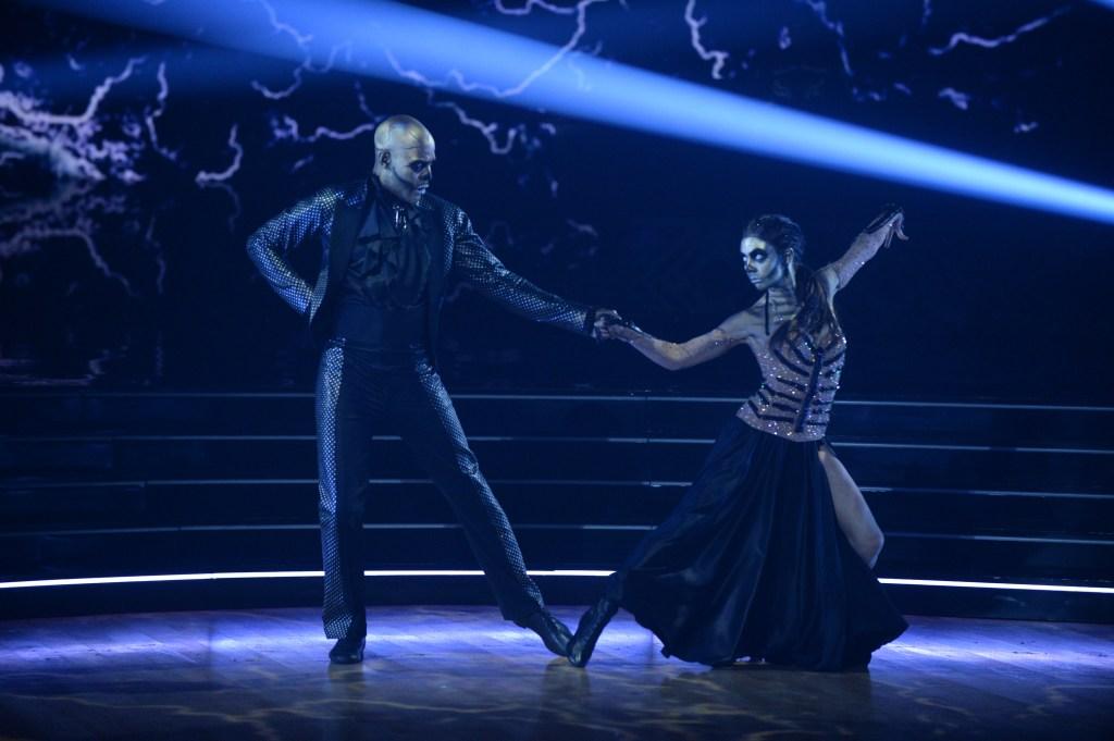 KARAMO, JENNA JOHNSON DWTS Halloween Themed Episode Karamo Eliminated