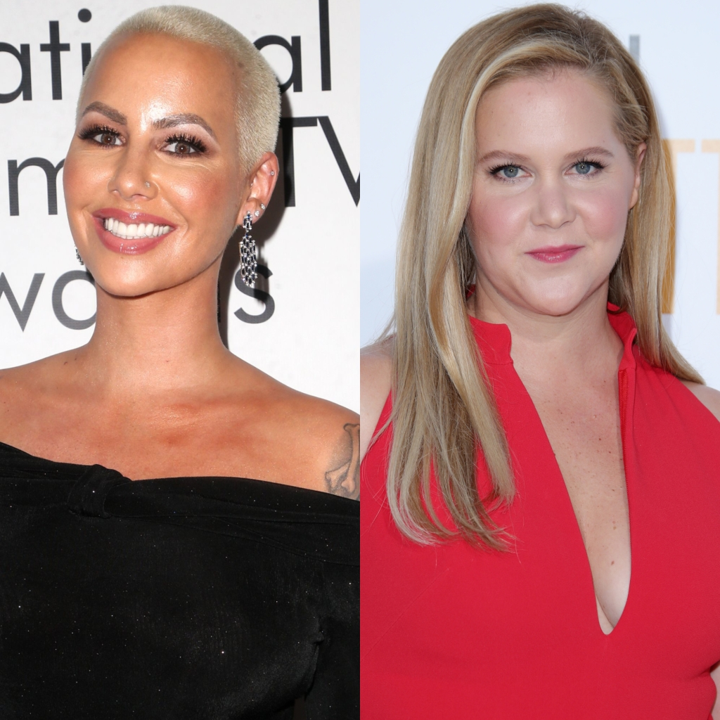 A Split Image of Amber Rose and Amy Schumer, Amber Rose Consoles Amy Schumer About Baby Weight