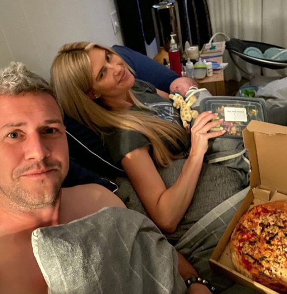 Ant and Christina Anstead Having Dinner in Bed