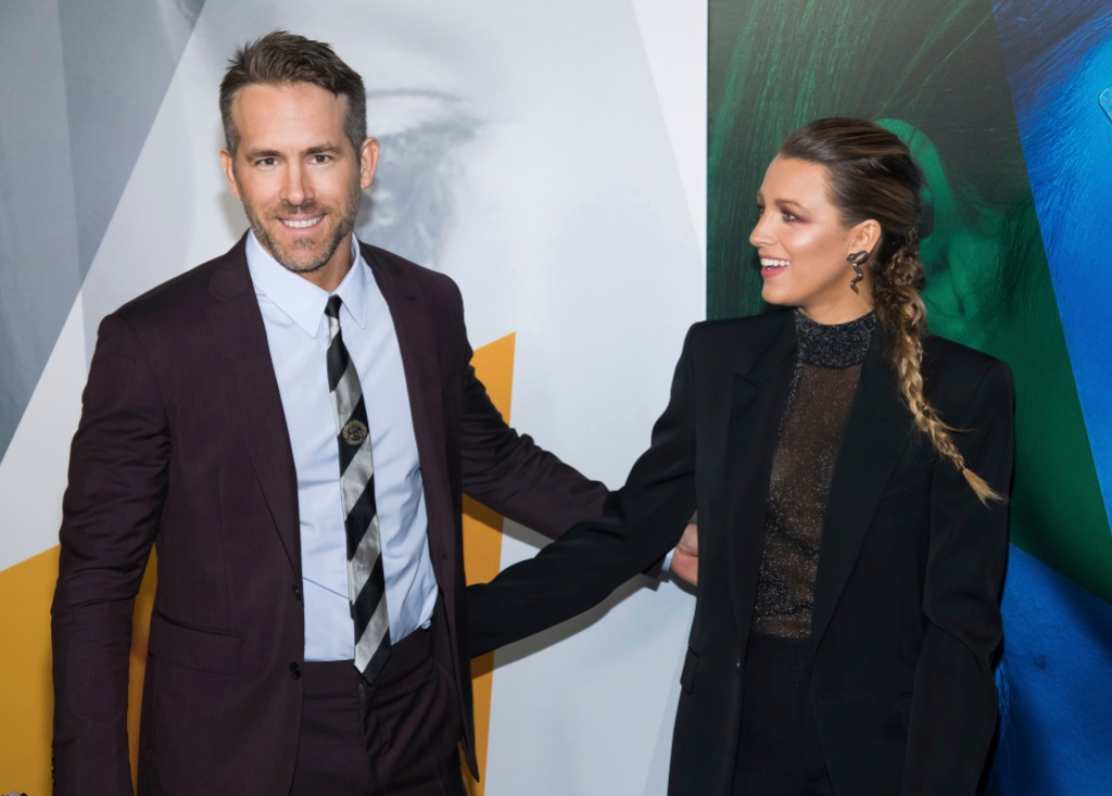 Blake Lively and Ryan Reynolds at the 'A Simple Favor' Premiere