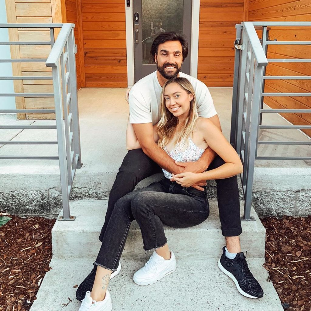 Brandi Cyrus and Her Unnamed South African Boyfriend Posing on a Set of Stairs