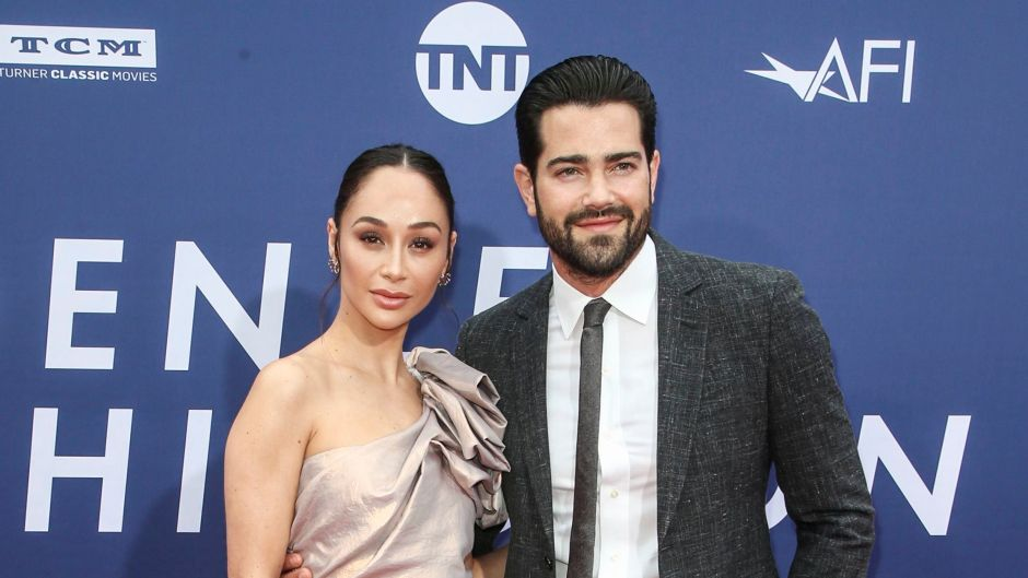 Cara Santana Wearing a Sparkly Dress With Jesse Metcalfe in a Suit