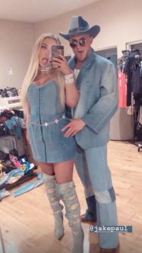 Celebrity Halloween Costume 2019, Tana Mongeau and Jake Paul
