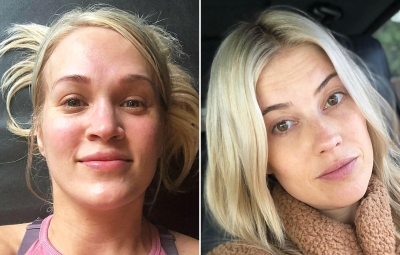 Celebs Wearing No Makeup Carrie Underwood Christina Anstead