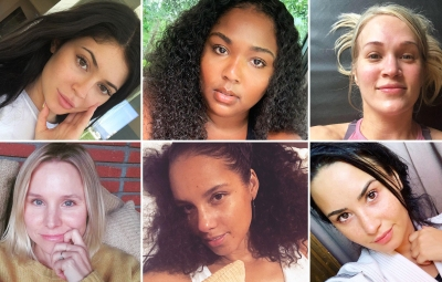 Celebs Wearing No Makeup Kylie Jenner Lizzo Carrie Underwood Kristen Bell Alicia Keys Demi Lovato