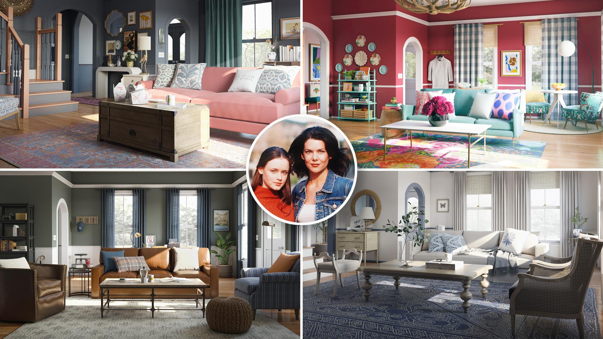 Gilmore Girls Inspired Homes Rory Lorelai And Luke S Living Rooms