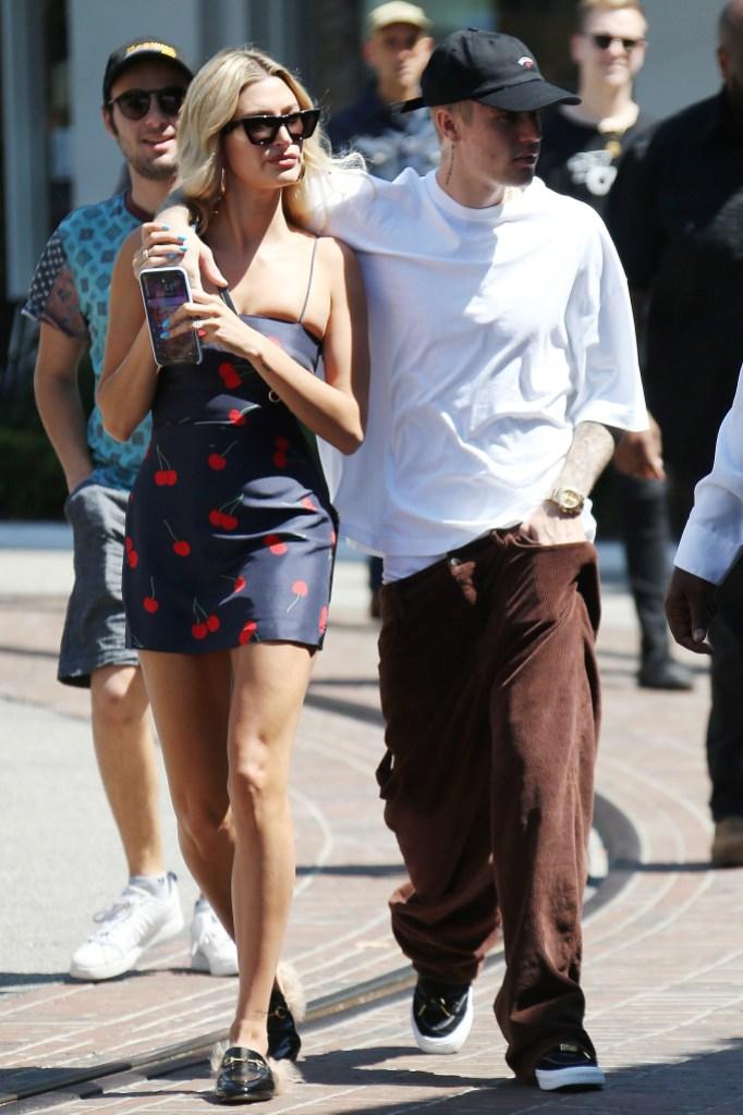 Justin Bieber Drapes His Arm Around Hailey Baldwin