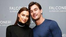 Irina Shayk and Tyler Cameron attend the Falconeri US Store Opening