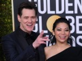 Jim Carrey and Ginger Gonzaga at Golden Globes