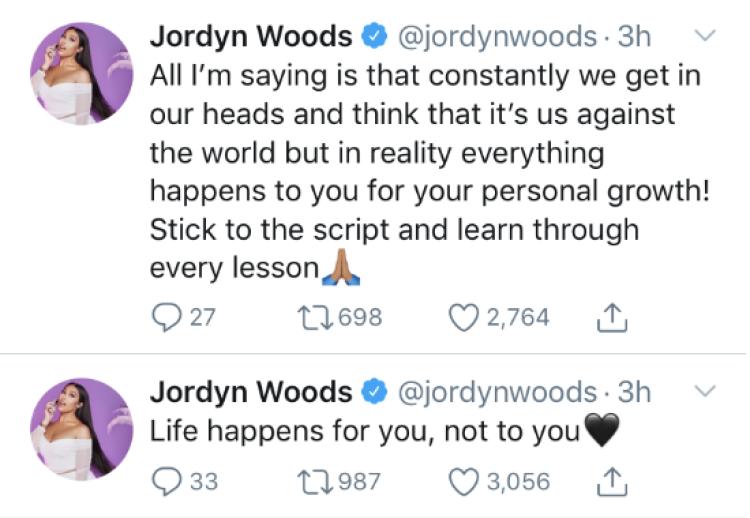 Jordyn Woods tweet