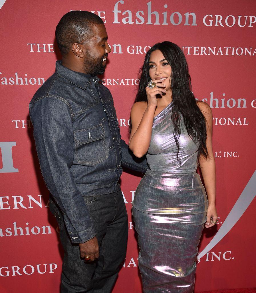 Kanye West Smiles at Kim Kardashian, Kanye West Gushes Over Married Life With Kim Kardashian