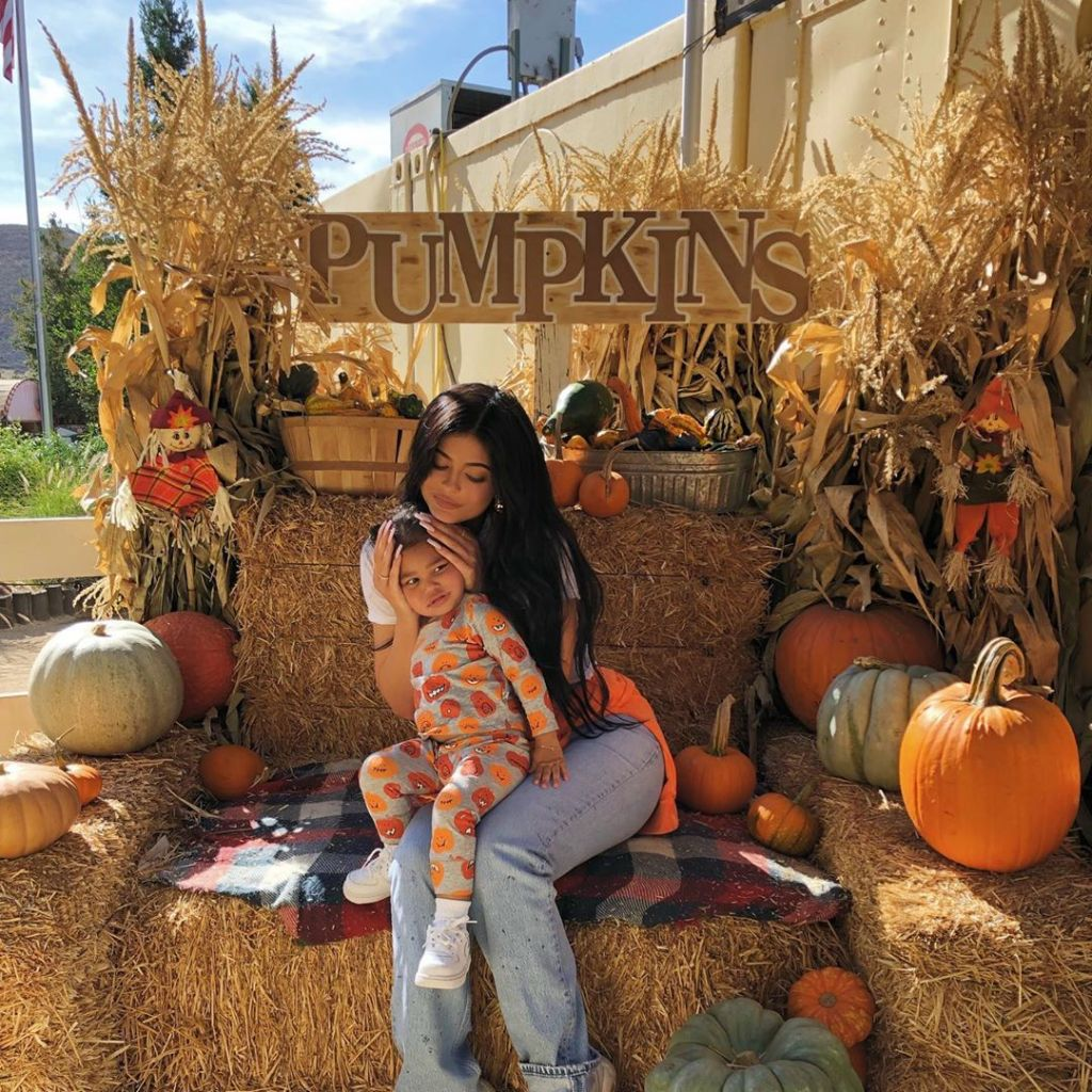 Dream Kardashian, Stormi Webster and True Thompson at a Pumpkin Patch With Kylie Jenner