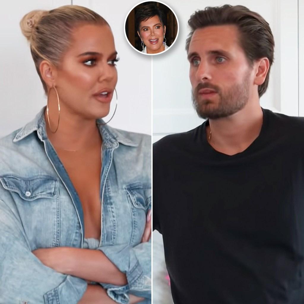 Khloe Kardashian Scott Disick Plot Against Kris Jenner