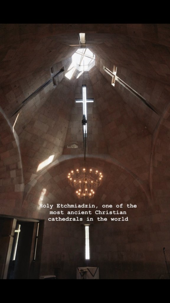Kim Kardashian snaps a photo of an Armenian church