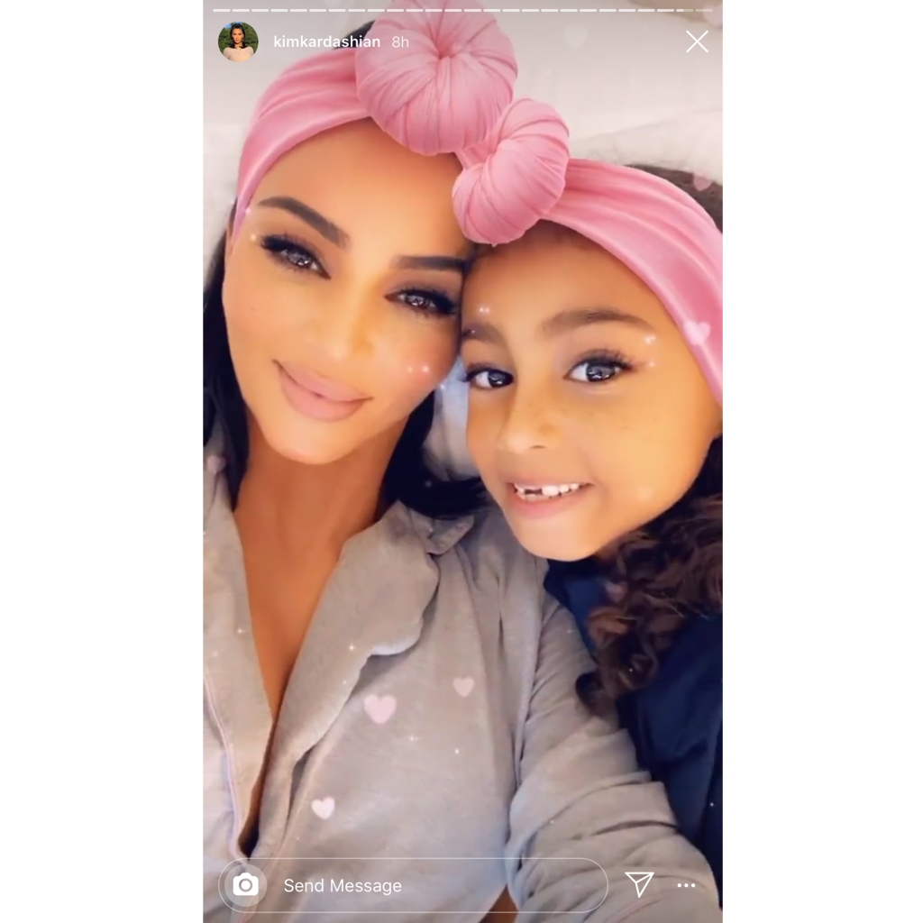 Kim Kardashian Daughter North West Obsessed With Sheet Masks
