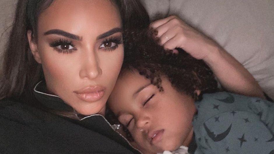 Kim Kardashian Snaps a Bedtime Selfie with Her Son Saint West