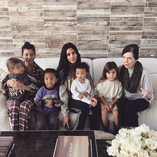 Kim and Kourtney Kardashians With Kids
