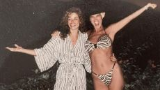 Kris Jenner and Her Longtime Friend Faye Resnick in the '80s, Kim Kardashian Shares a Photo of Her Mom in a Bikini