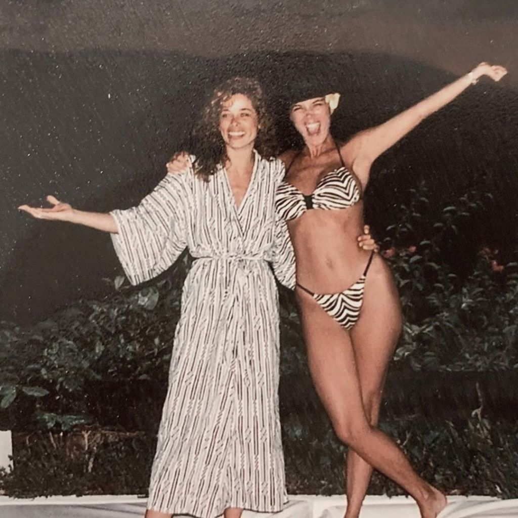 Kris Jenner and Faye Resnick in the '80s