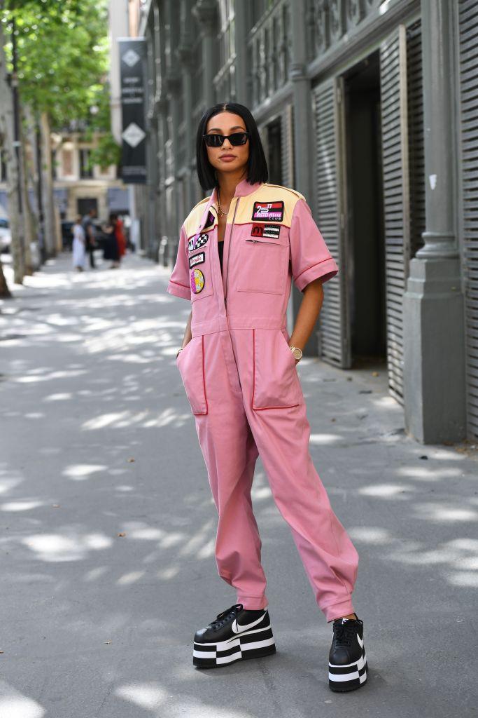 Kristen Noel Crawley Wearing a Pink Jumpsuit, Kristen Noel Crawley Gushes Over North West's Style