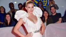 Lili Reinhart in a White, Rodarte Gown, Lili Reinhart Discusses the Inspiration Behind Her Upcoming Poetry Book