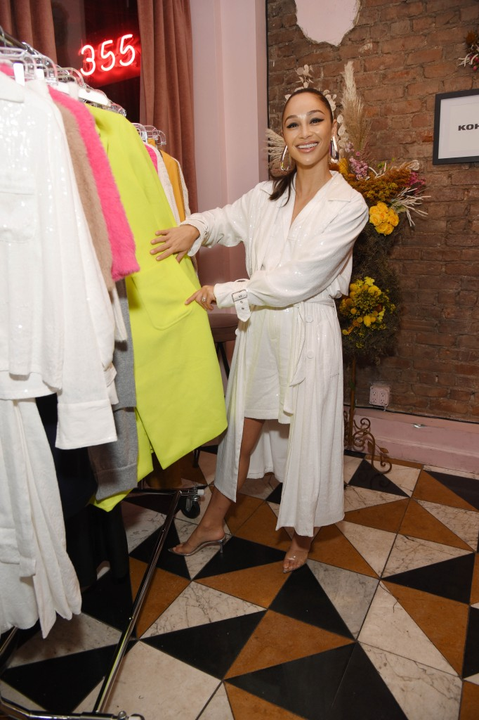 Cara Santana Wearing a White Dress at Her Event in NYC