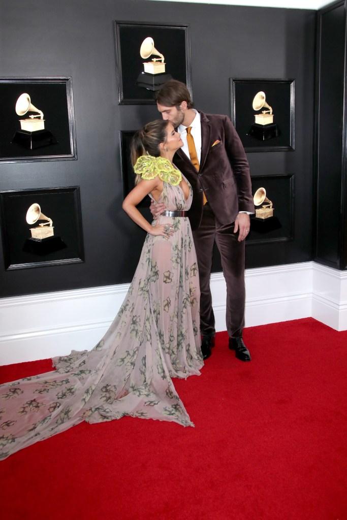 Maren Morris and Ryan Hurd at the 2019 Grammys